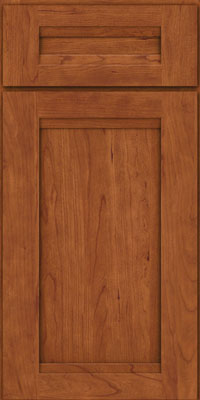 Square Recessed Panel - Veneer (SNC) Cherry in Sunset - Base