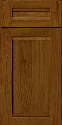 Square Recessed Panel - Veneer (AC8H) Hickory in Cognac - Base