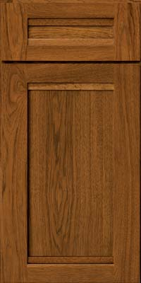 Square Recessed Panel - Veneer (AC8H) Hickory in Golden Lager - Base