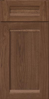 Square Recessed Panel - Veneer (AC8H1) Hickory in Hazel - Base