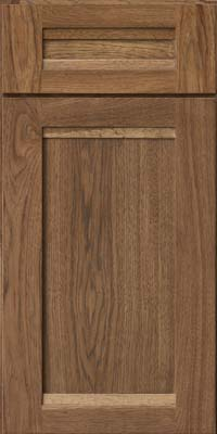 Square Recessed Panel - Veneer (AC8H) Hickory in Husk - Base