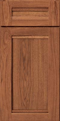 Square Recessed Panel - Veneer (AC8H) Hickory in Praline - Base