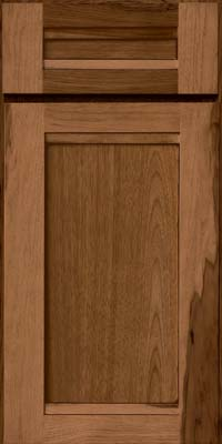 Square Recessed Panel - Veneer (AC8H) Hickory in Rye w/Sable Glaze - Base