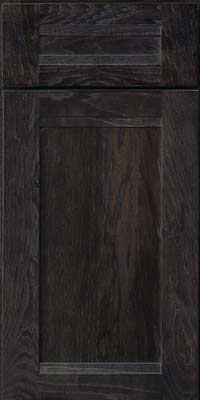 Square Recessed Panel - Veneer (AC8H) Hickory in Slate - Base