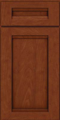 Square Recessed Panel - Veneer (SNM) Maple in Chestnut w/Onyx Glaze - Base