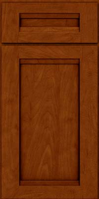 Square Recessed Panel - Veneer (SNM) Maple in Cinnamon w/Onyx Glaze - Base