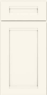 Square Recessed Panel - Veneer (SNM) Maple in Dove White - Base