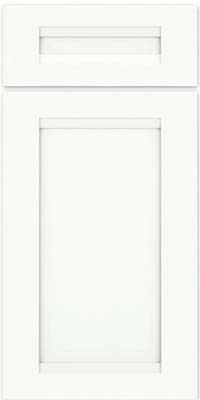 Square Recessed Panel - Veneer (SNM) Maple in Dove White w/ Cinder Glaze - Base