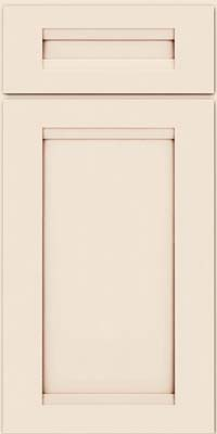 Square Recessed Panel - Veneer (SNM) Maple in Dove White w/Cocoa Glaze - Base