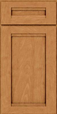 Square Recessed Panel - Veneer (SNM) Maple in Ginger w/Sable Glaze - Base