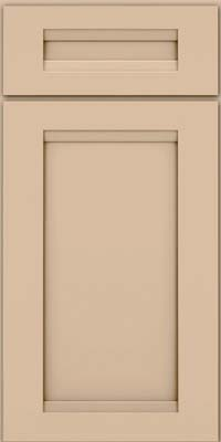 Square Recessed Panel - Veneer (SNM) Maple in Mushroom w/Cocoa Glaze - Base