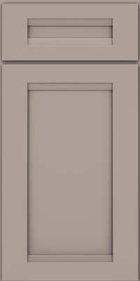 Square Recessed Panel - Veneer (SNM) Maple in Pebble Grey - Base