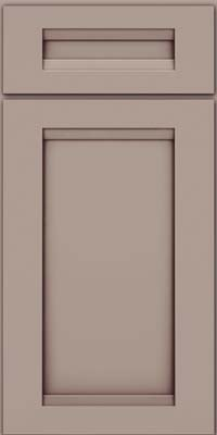 Square Recessed Panel - Veneer (SNM) Maple in Pebble Grey w/ Cocoa Glaze - Base