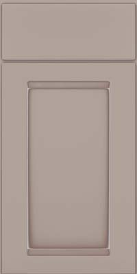 Square Recessed Panel - Veneer (SNM) Maple in Pebble Grey w/ Coconut Glaze - Base