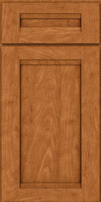 Square Recessed Panel - Veneer (SNM) Maple in Praline w/Mocha Highlight - Base