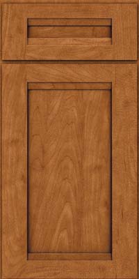 Square Recessed Panel - Veneer (SNM) Maple in Praline w/Onyx Glaze - Base