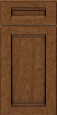 Square Recessed Panel - Veneer (SNM) Maple in Rye w/Onyx Glaze - Base
