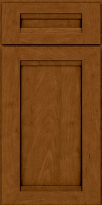 Square Recessed Panel - Veneer (SNM) Maple in Rye w/Sable Glaze - Base