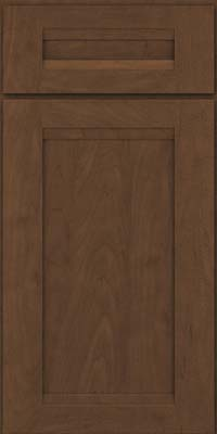 Square Recessed Panel - Veneer (SNM) Maple in Saddle Suede - Base