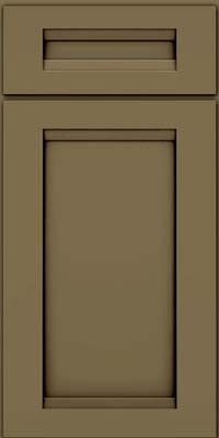Square Recessed Panel - Veneer (SNM) Maple in Sage w/Cocoa Glaze - Base