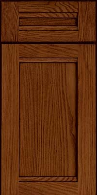 Square Recessed Panel - Veneer (AC8O) Oak in Autumn Blush w/Onyx Glaze - Base