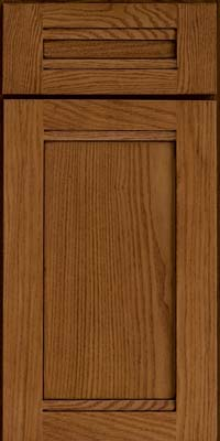 Square Recessed Panel - Veneer (AC8O) Oak in Chocolate w/Mocha Glaze - Base