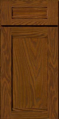 Square Recessed Panel - Veneer (AC8O) Oak in Cognac - Base