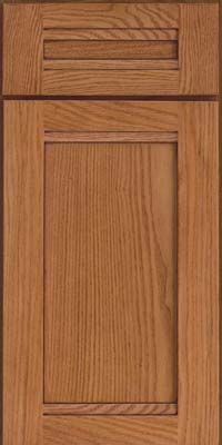 Square Recessed Panel - Veneer (AC8O) Oak in Ginger w/Sable Glaze - Base