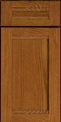 Square Recessed Panel - Veneer (AC8O) Oak in Golden Lager - Base