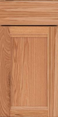 Square Recessed Panel - Veneer (AC8O) Oak in Honey Spice - Base