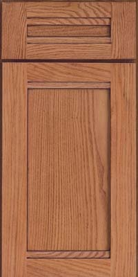 Square Recessed Panel - Veneer (AC8O) Oak in Honey Spice w/Mocha Highlight - Base
