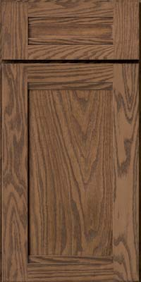 Square Recessed Panel - Veneer (AC8O) Oak in Husk - Base