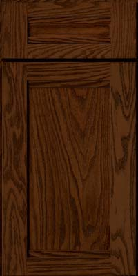 Square Recessed Panel - Veneer (AC8O) Oak in Kaffe - Base