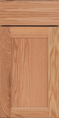 Square Recessed Panel - Veneer (AC8O) Oak in Natural - Base