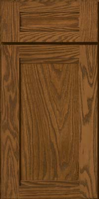 Square Recessed Panel - Veneer (AC8O) Oak in Rye - Base