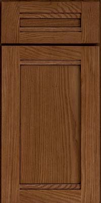 Square Recessed Panel - Veneer (AC8O) Oak in Rye w/Onyx Glaze - Base