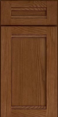 Square Recessed Panel - Veneer (AC8O) Oak in Rye w/Sable Glaze - Base