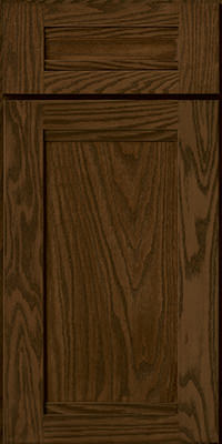 Square Recessed Panel - Veneer (AC8O) Oak in Saddle - Base