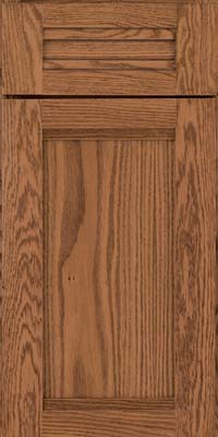 Square Recessed Panel - Veneer (AC8O) Oak in Toffee - Base