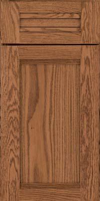 Square Recessed Panel - Veneer (AC8O) Oak in Toffee - Base