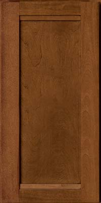 Square Recessed Panel - Veneer (AC8B) Birch in Antique Chocolate w/Mocha Glaze - Wall