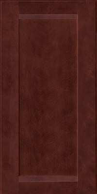Square Recessed Panel - Veneer (AC8B) Birch in Cabernet - Wall