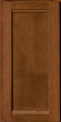 Square Recessed Panel - Veneer (AC8B) Birch in Chocolate - Wall
