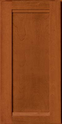 Square Recessed Panel - Veneer (AC8B) Birch in Cinnamon - Wall
