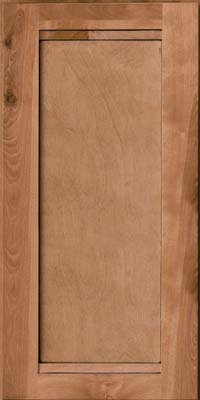Square Recessed Panel - Veneer (AC8B) Birch in Ginger w/Sable Glaze - Wall