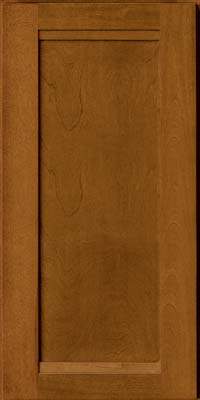 Square Recessed Panel - Veneer (AC8B) Birch in Golden Lager - Wall