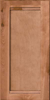 Square Recessed Panel - Veneer (AC8B) Birch in Honey Spice w/Mocha Highlight - Wall