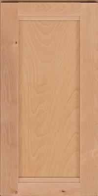 Square Recessed Panel - Veneer (AC8B) Birch in Natural - Wall