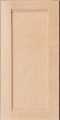 Square Recessed Panel - Veneer (AC8B) Birch in Parchment - Wall