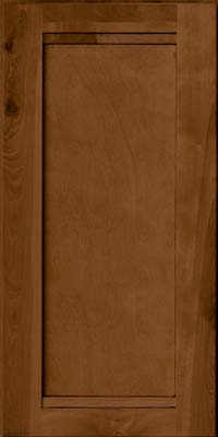 Square Recessed Panel - Veneer (AC8B) Birch in Rye w/Sable Glaze - Wall